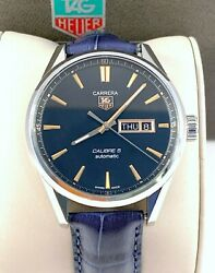 Tag Heuer Carrera Calibre 5 Mens Watch Automatic Day Date War201c Exc Cond..