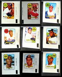 1969 Topps Decals Complete Set - Premier 7.5 - Nm+