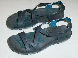 Merrell Womenandrsquos Leather Granite Dragonfly Grey Blue Fashion Sandals Size 10 M