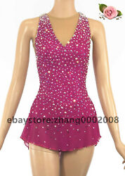 Sparkly Ice Skating Dress.competition Figure Skating Baton Twirling Costume