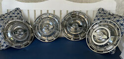 1956 1957 1958 1959 1960 1961 1962 Original Chevy Corvette Hubcaps W Spinners