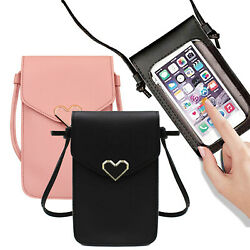 Women Crossbody Shoulder Bag Leather Cell Phone Purse Wallet with Touch Screen $6.63
