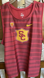 Rare Nike Ncaa Pac12 Usc Track And Field Team Issued Singlet Size L Made In Usa