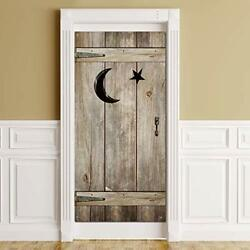 Outhouse Decorations Vintage Outhouse Barn Door Banner Backdrop Bathroom Door