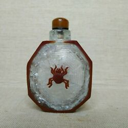 Antique Chinese Snuff Bottle19th-20th Century. Made From Rock Crystal And Glass