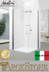 Novellini Young 2.0 2g Cabin Shower 2 Door Swing Clear Silver 30-108cm