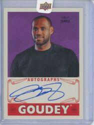 Lebron James Auto 20016 Ud Upper Deck Goodwin Champions Goudey On Card Autograph