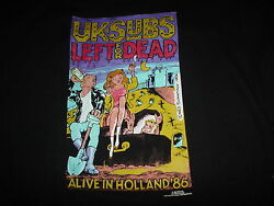 The U.k. Uk Subs Left For Dead Alive In Holland Cover New 2xl Rare 1999 T Shirt