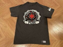 Cm Punk Best In The World In Punk We Trust Chicago Gray Shirt Size Large Wwe Aew