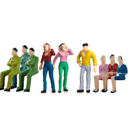 50 Assorted Hand Painted Model People Figures Train Railway Scenery O Scale