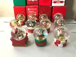 Jcpenney Disney Collectible Mickey Mouse Christmas Snow Globes Lot Of 11