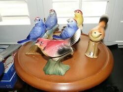 6 Royal Copley Bird Figurines, Exc. Cond. 1 W/ Sticker, 5.25 Tall, Detailed Fea