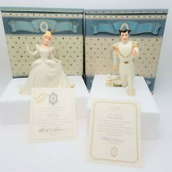 Disney Showcase Collection By Lenox Cinderella And Charming With Coa And Tins