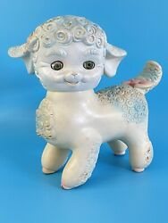 Vintage 1961 Edward Mobley Lamb Sleepy Eyes Squeaky Rubber Baby Toy Works