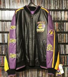 Deadstock Lakers 3 Consecutive Victories Leather Jacket 2xl Nba
