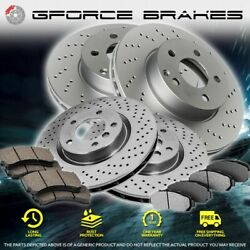 F+r Drilled Rotors And Pads For 2019-2020 Bmw Z4 Xdrive30i/sdrive30i Blue M Brakes