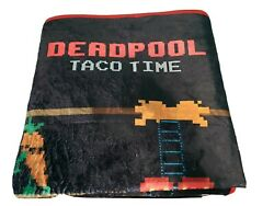 Marvel Deadpool Club Merch Taco Time Game Tapestry or Table Cover 42 x 57 New