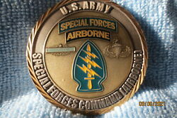 Special Forces Command Airborne For Excellence Challenge Coin