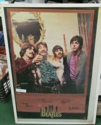 Beatles Poster New 1995 Original Rare Vintage Collectible Oop Fab 4