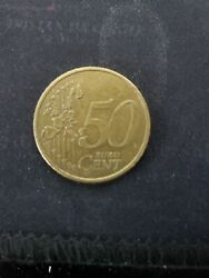 50 Euro Cent Coin 2002 From Germany