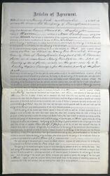 Pa Venango County / 1865 Lease Agreement For Land In Oil Country Cherrytree