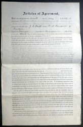 Pa Venango County / 1867 Lease Agreement For Land In Oil Country Sandycreek