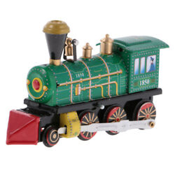 Wind Up Clockwork Train Locomotive Model Tin Toy Collectible Gift Home Decor