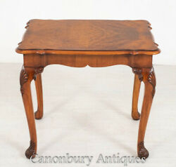 Queen Anne Side Table - Walnut Occasional Antique