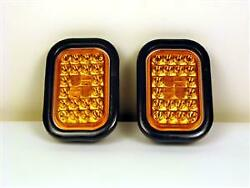 2 Pack Of 24 Diode 4 X 6 Stop Tail Turn Trailer Lights