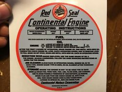 Continental Air Cooled Engine Gas Tank Decal A-7 Au-85 David Bradley Tractor