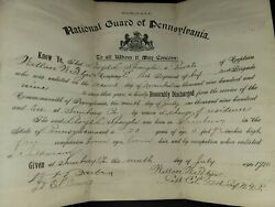 Antique Us Army Discharge Paper Named To Lloyd Spangler Dated 1910
