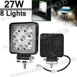 8 Pack 5inch 12v 27w Led Work Light Bar Flood Pods Driving Off-road Tractor 4wd