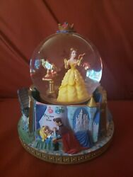 Disney Beauty And The Beast Princess Belle Rotating Snowglobe Storybook 2 Chips