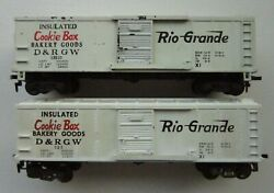 Set Of 2 American Flyer Ho Dandrgw Cookie Box Cars 523 And 33523 1950's A C Gilbert