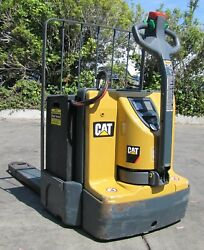 """Cat Caterpillar 6000 Lbs Electric Pallet Jack Lift Truck 48"""" Forks 24v As Is"""