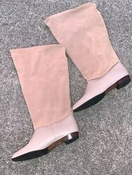 J Crew Outlet Slouch Boots Camel Leather Vintage Sexy Shoes Size 8.5 ❤️sj11j