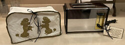 Vintage 70's Sunbeam Automatic Chrome Toaster 20-20 W/ Mid Century Poodle Cover