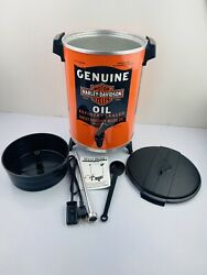 Vintage New West Bend Harley Davidson 30 Cup Coffee Pot Percolator Motor Oil Can