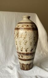 Antique Chinese Song / Jin / Yuan Pottery Stoneware Vase Mei Ping 宋/金/元梅瓶