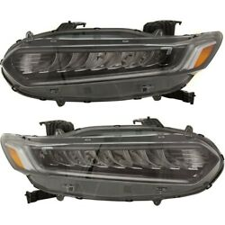 Headlights Lamps Set Of 2 Left-and-right 33100tvaa11 33150tvaa11 Lh And Rh Pair