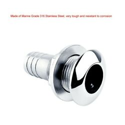 Steel Yacht Drain Vent 316 Stainless Bilge Hull Outlet Sewage Practical