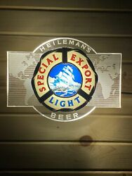 Heilemans Special Export Light Lighted Beer Sign Nautical Ships Clear World Map