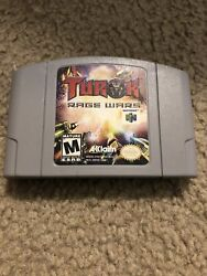 Turok Rage Wars Grey Variant N64 Gray Authentic Cartridge Tested With Manual