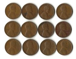 1920-1929 P-d-s Wheat Penny Lot  22 Different Dates/mint Marks
