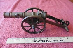 Vintage All-brass Cannon Statue Solid Cast Brass Or Bronze Figurine Antique Toy