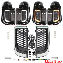 Led Fairing Lower Grills Light For Harley Touring Street Electra Glide 2014-2021