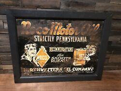 """Vintage 1920s Northwestern Oil Company """"noco Motor Oil"""" Tin Advertising Sign Wis"""