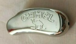 Vintage Camel Silver Tone Solid Cover Case Sleeve For Mini Lighter Bic
