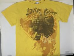 Vintage 2009 In Living Color Rare T Shirt S Small Yellow Gasmask Gas Mask