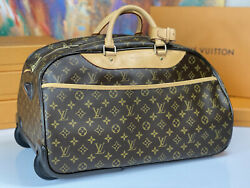 Louis Vuitton Monogram 20 Rolling Duffle Trolley Carry On Travel Bag Unisex